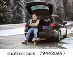 man ready to go on vacations... | Shutterstock . vector #794430697