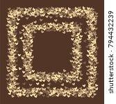 heart brown pattern which... | Shutterstock .eps vector #794432239