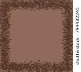 heart brown background isolated ... | Shutterstock .eps vector #794432245