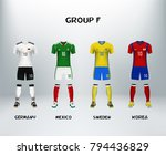 mockup of group f football... | Shutterstock .eps vector #794436829