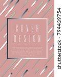 geometric cover  design for... | Shutterstock .eps vector #794439754