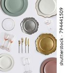 tableware and decorations for... | Shutterstock . vector #794441509