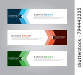 abstract modern banner... | Shutterstock .eps vector #794442235