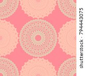 vintage wallpaper rapport.... | Shutterstock .eps vector #794443075