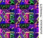 tribal pattern. ethnic print.... | Shutterstock .eps vector #794446375