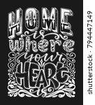 vector calligraphy image. hand... | Shutterstock .eps vector #794447149