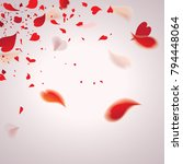 falling romantic red hearty... | Shutterstock .eps vector #794448064