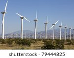 wind turbines on alternative... | Shutterstock . vector #79444825