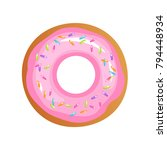 vector isolated donut. modern... | Shutterstock .eps vector #794448934