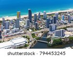 aerial view of broadbeach with... | Shutterstock . vector #794453245