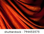 theater red curtain. close up... | Shutterstock . vector #794453575