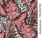 watercolor seamless pattern... | Shutterstock .eps vector #794453794