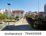 municipal theater of sao paulo... | Shutterstock . vector #794455909