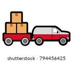 box and truck design | Shutterstock .eps vector #794456425