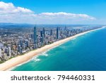 sunny aerial view of surfers... | Shutterstock . vector #794460331
