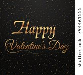 valentine's day greeting card... | Shutterstock .eps vector #794461555