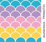 pastel scale seamless pattern... | Shutterstock .eps vector #794463721
