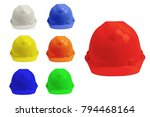safety helmet isolated on white ... | Shutterstock . vector #794468164