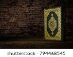 koran   holy book of muslims  ... | Shutterstock . vector #794468545