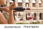two happy young woman tourists...   Shutterstock . vector #794478694