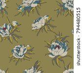 vintage vector pattern with... | Shutterstock .eps vector #794480515