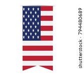 flag of the united states on a... | Shutterstock .eps vector #794480689