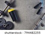 fitness or bodybuilding concept ... | Shutterstock . vector #794482255
