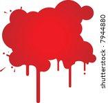red splash. | Shutterstock .eps vector #7944880
