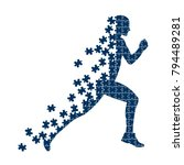 running person from the... | Shutterstock . vector #794489281