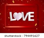 love texture paint stain... | Shutterstock .eps vector #794491627