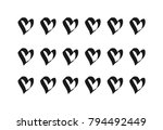love hearts abstract background ... | Shutterstock .eps vector #794492449