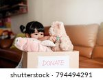 children with donation concept. ... | Shutterstock . vector #794494291