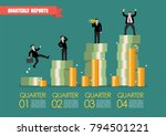 quarterly reports infographic.... | Shutterstock .eps vector #794501221