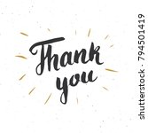 thank you lettering quote  hand ... | Shutterstock .eps vector #794501419