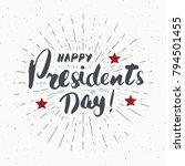 happy president's day vintage... | Shutterstock .eps vector #794501455