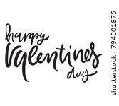 happy valentines day. hand... | Shutterstock .eps vector #794501875