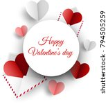 love valentine's card with... | Shutterstock .eps vector #794505259
