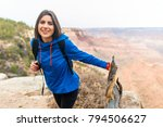 travel hiking photo of young... | Shutterstock . vector #794506627