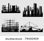 industrial silhouettes | Shutterstock . vector #79450909