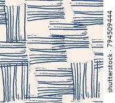 indigo vector tie dye seamless... | Shutterstock .eps vector #794509444