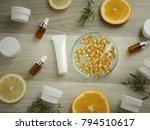 natural cosmetic skincare serum ... | Shutterstock . vector #794510617