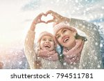 happy loving family  mother and ... | Shutterstock . vector #794511781