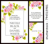 romantic invitation. wedding ... | Shutterstock . vector #794515981