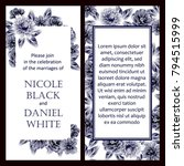 romantic invitation. wedding ... | Shutterstock . vector #794515999