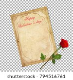 valentines day greeting card.... | Shutterstock .eps vector #794516761