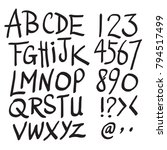 vector alphabet. hand drawn... | Shutterstock .eps vector #794517499