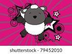 sheep jump cartoon background...   Shutterstock .eps vector #79452010