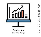 graph growth line color icon | Shutterstock .eps vector #794521345