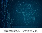 abstract mash line and point...   Shutterstock .eps vector #794521711