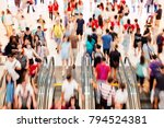 motion escalators at the modern ... | Shutterstock . vector #794524381